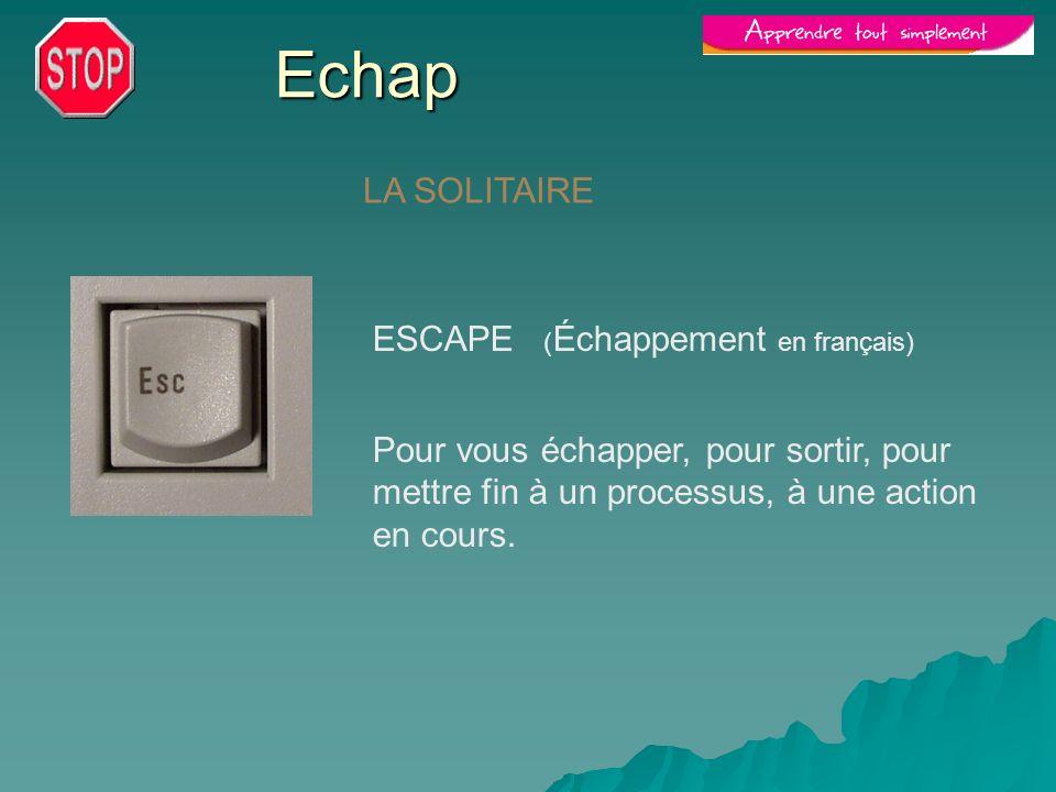 Echap LA SOLITAIRE ESCAPE (Échappement en français)