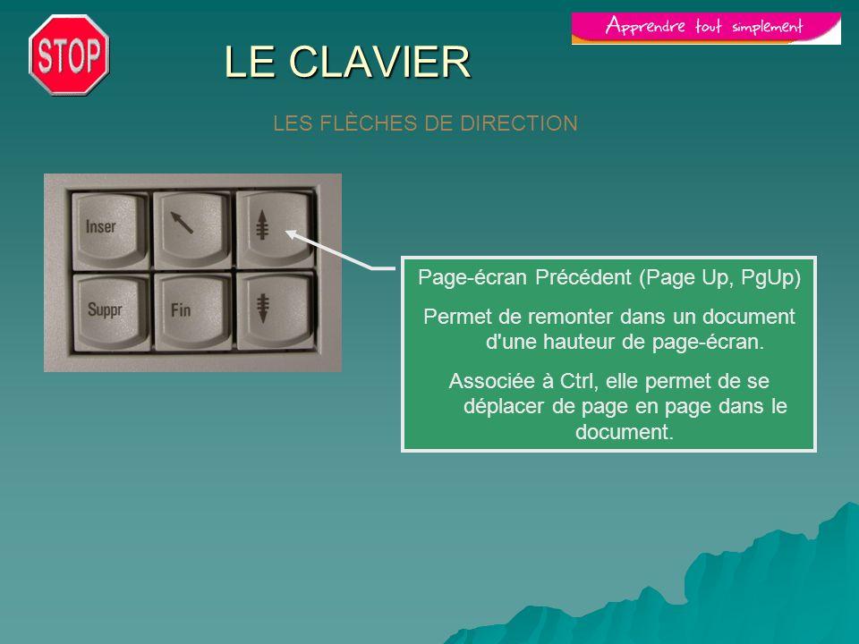 LE CLAVIER LES FLÈCHES DE DIRECTION