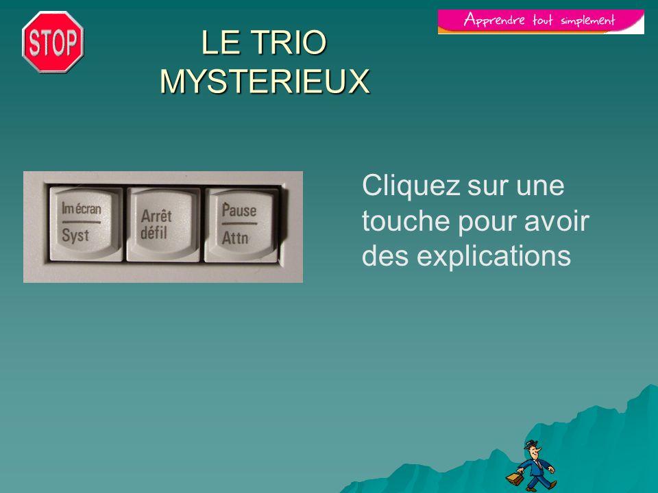 LE TRIO MYSTERIEUX Cliquez sur une touche pour avoir des explications