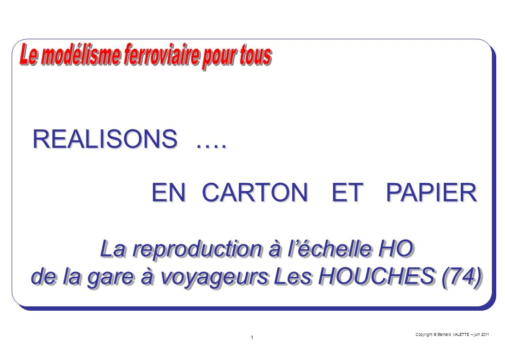 REALISONS …. EN CARTON ET PAPIER