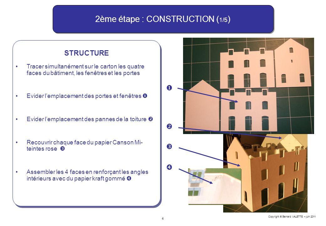 2ème étape : CONSTRUCTION (1/5)