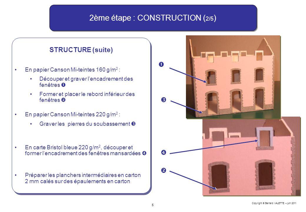 2ème étape : CONSTRUCTION (2/5)