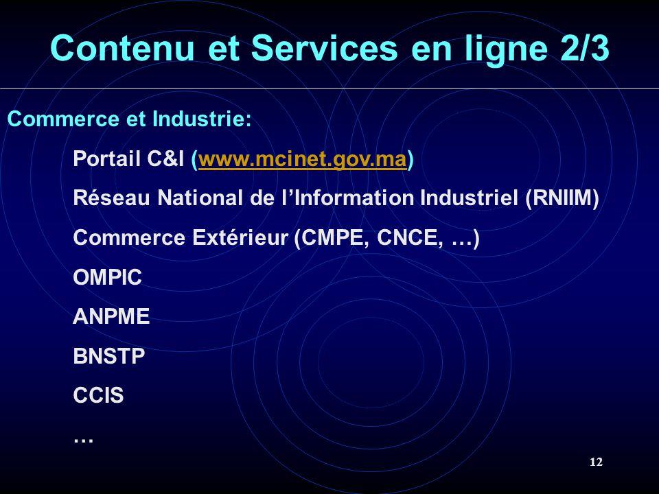 Contenu et Services en ligne 2/3