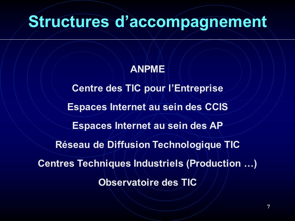 Structures d'accompagnement