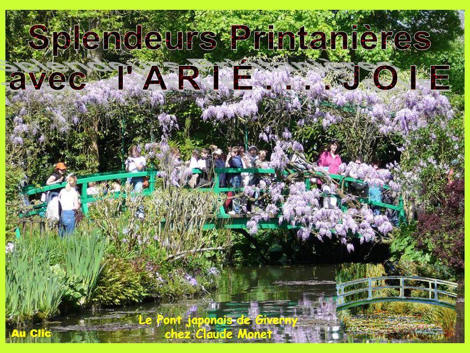 Splendeurs Printanières Le Pont japonais de Giverny chez Claude Monet