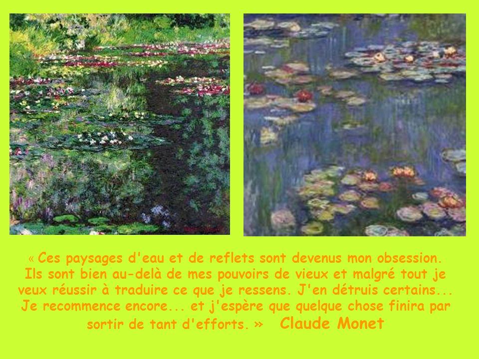 « Ces paysages d eau et de reflets sont devenus mon obsession