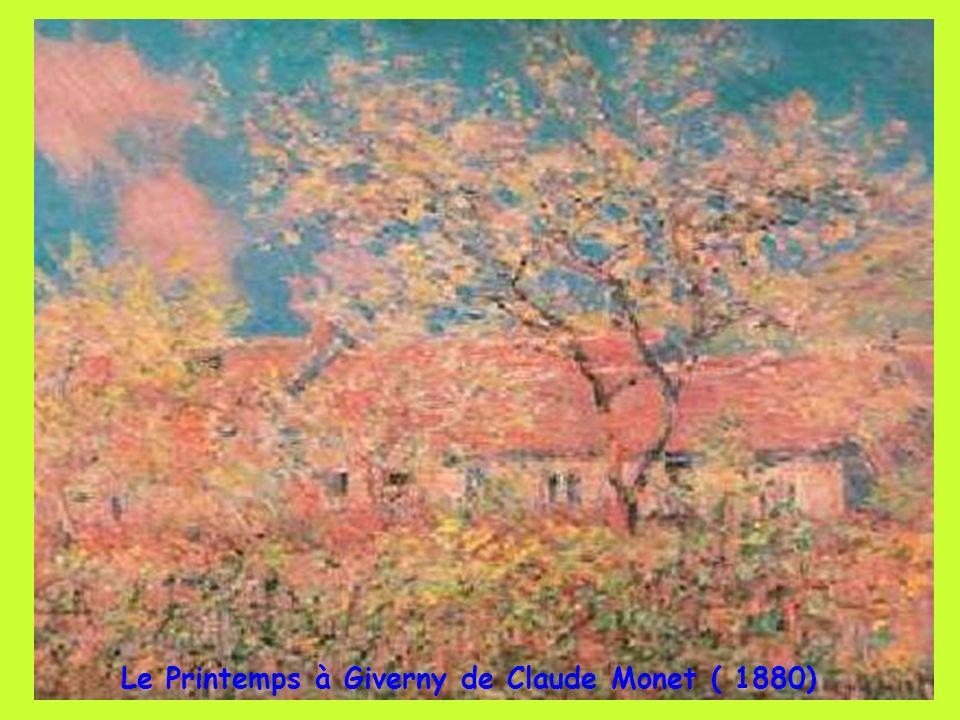 Le Printemps à Giverny de Claude Monet ( 1880)
