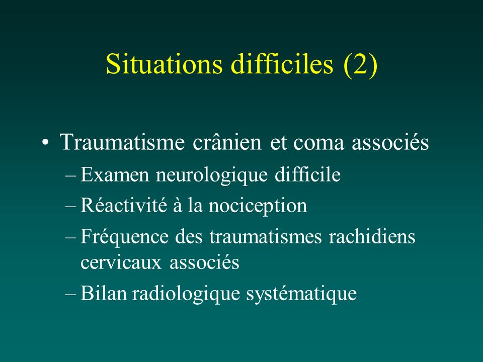 Situations difficiles (2)
