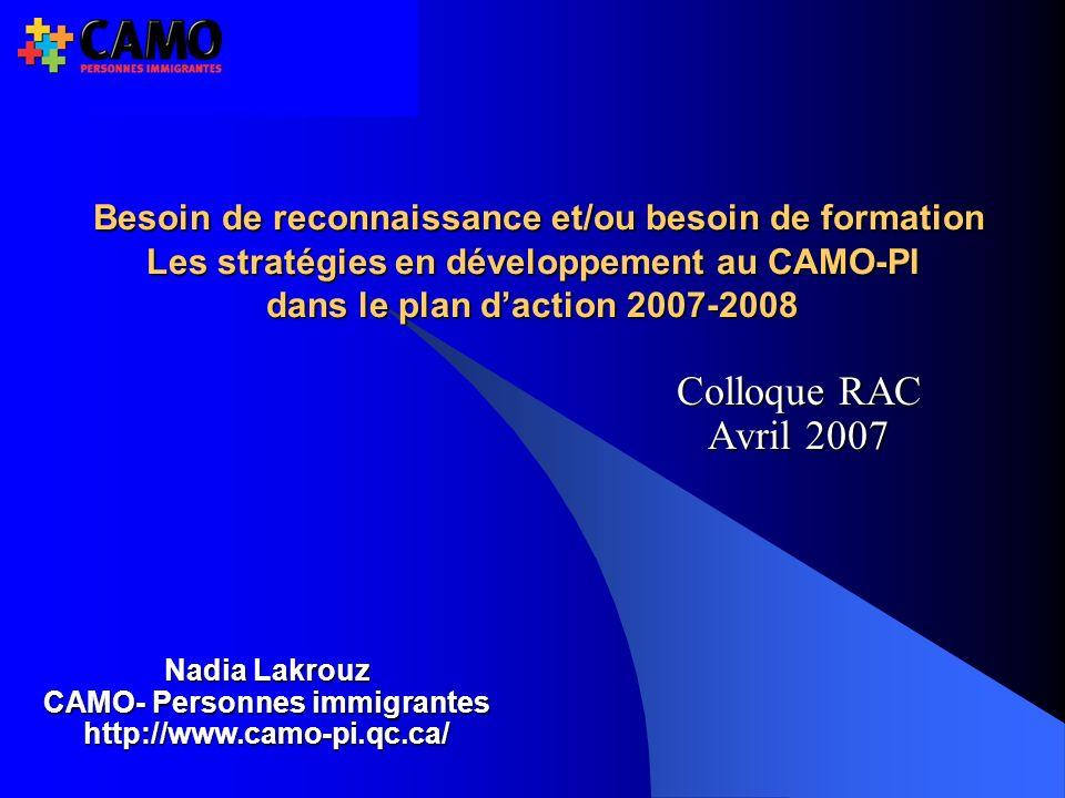 CAMO- Personnes immigrantes