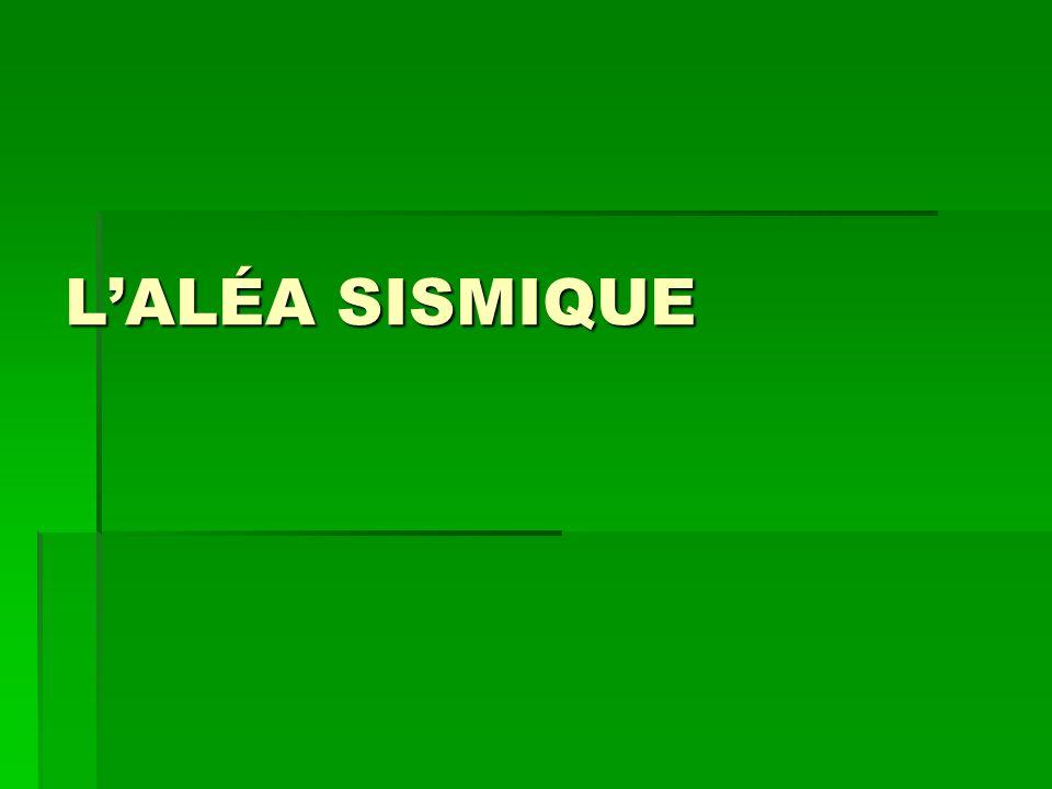 L'ALÉA SISMIQUE
