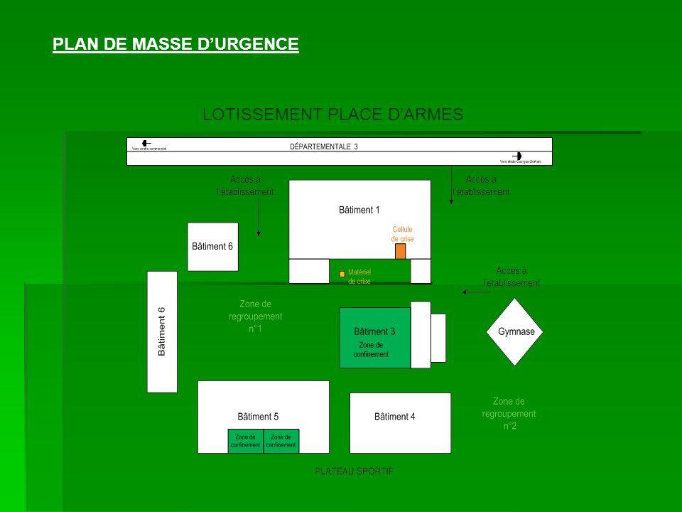 PLAN DE MASSE D'URGENCE