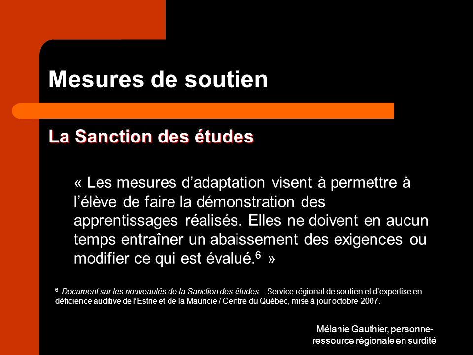Mélanie Gauthier, personne-ressource régionale en surdité
