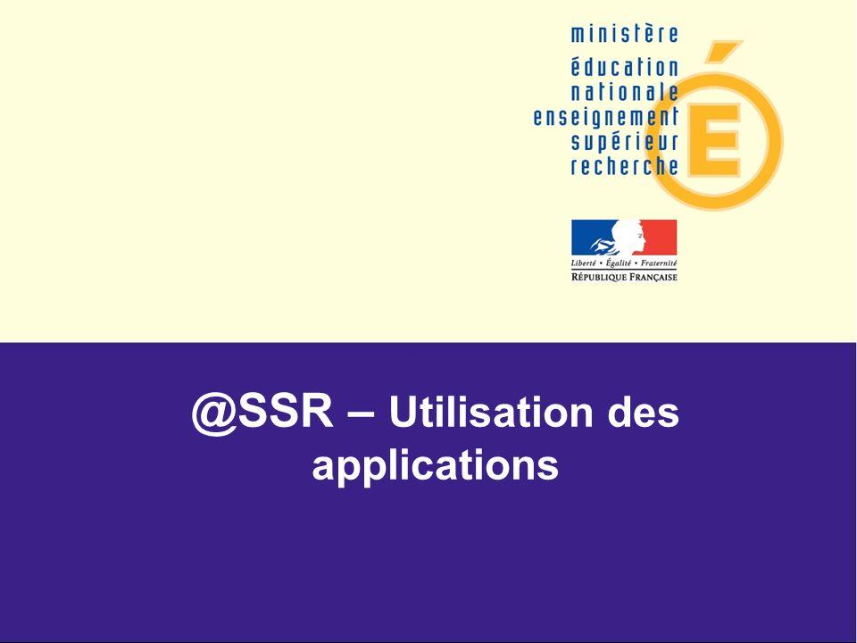 @SSR – Utilisation des applications