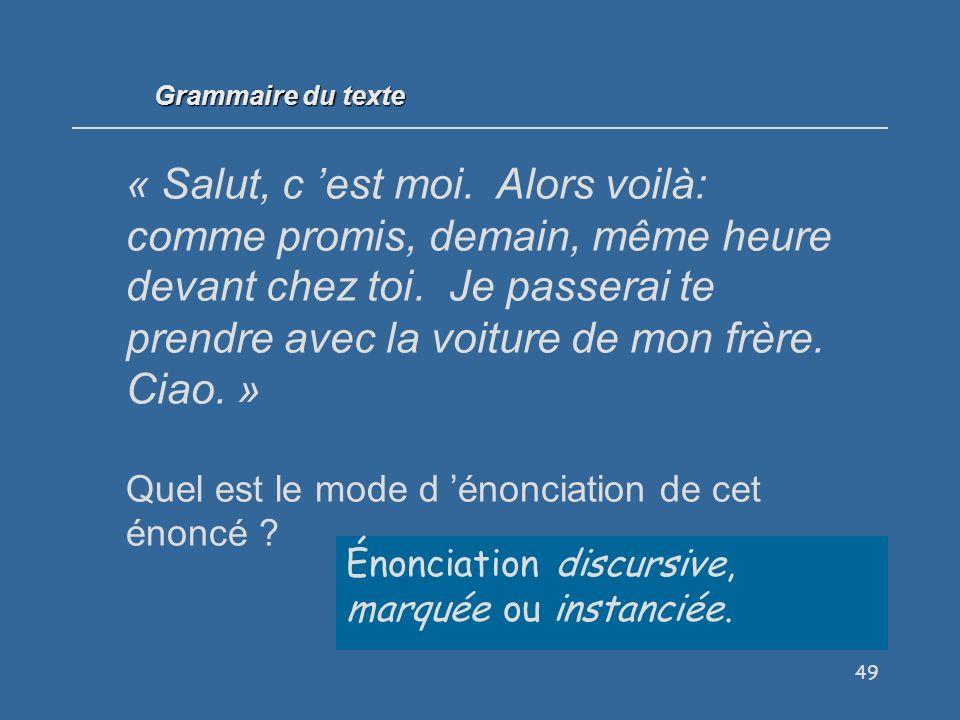 Grammaire du texte