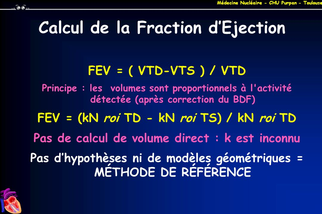 Calcul de la Fraction d'Ejection
