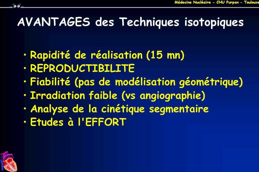 AVANTAGES des Techniques isotopiques