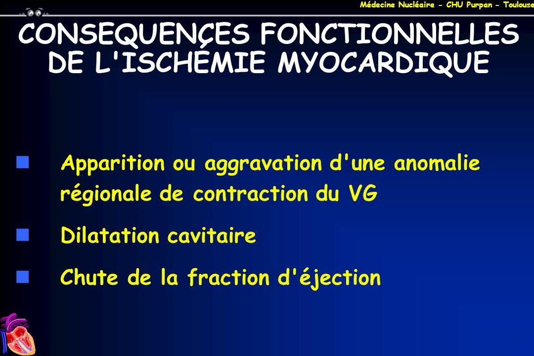 CONSEQUENCES FONCTIONNELLES DE L ISCHÉMIE MYOCARDIQUE