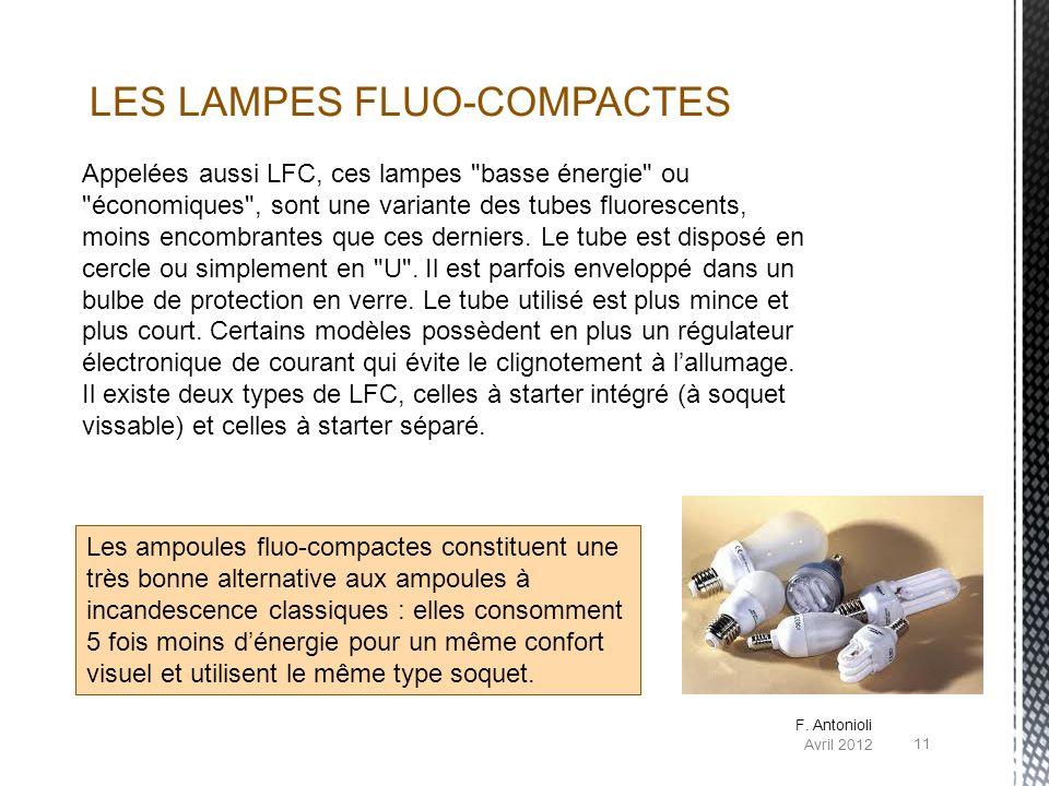 LES LAMPES FLUO-COMPACTES