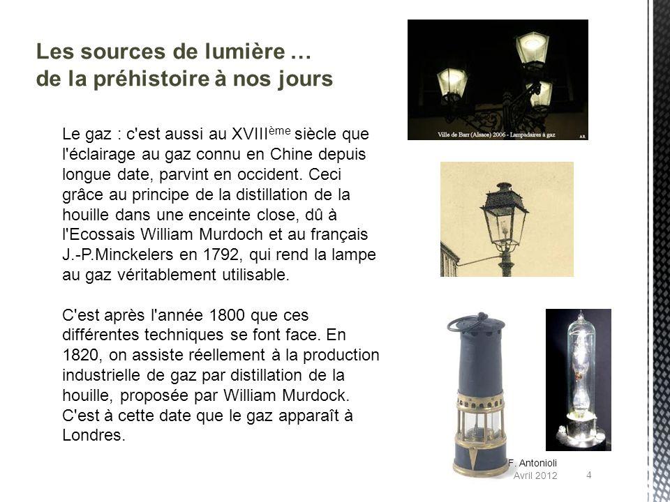 Les sources de lumière … de la préhistoire à nos jours