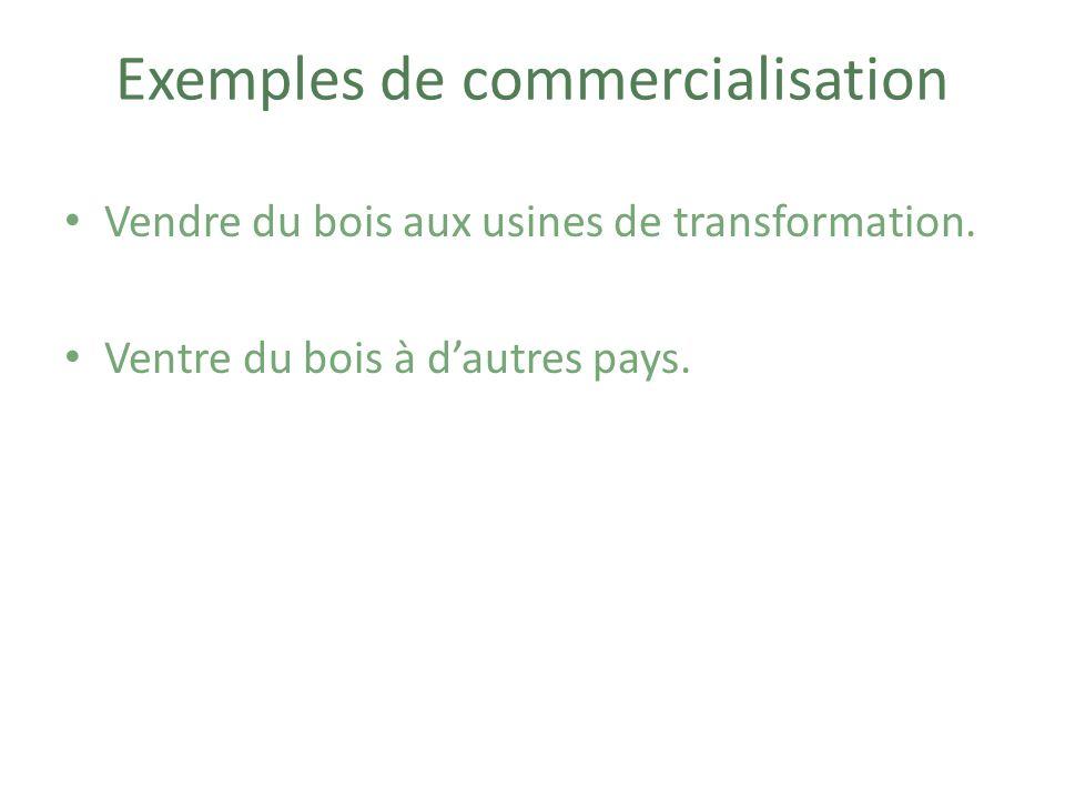 Exemples de commercialisation
