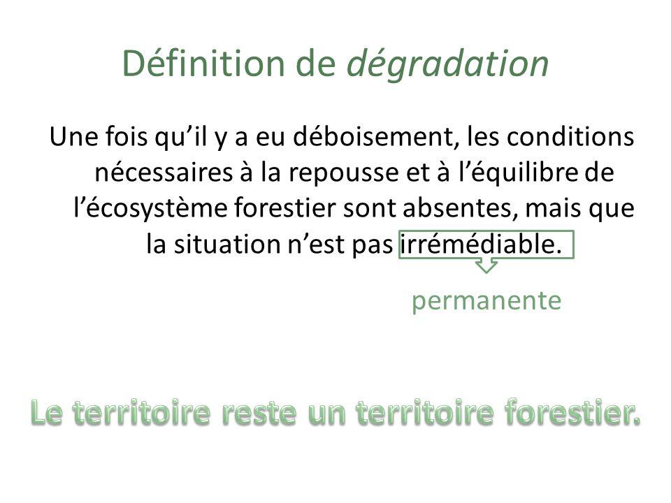 Définition de dégradation