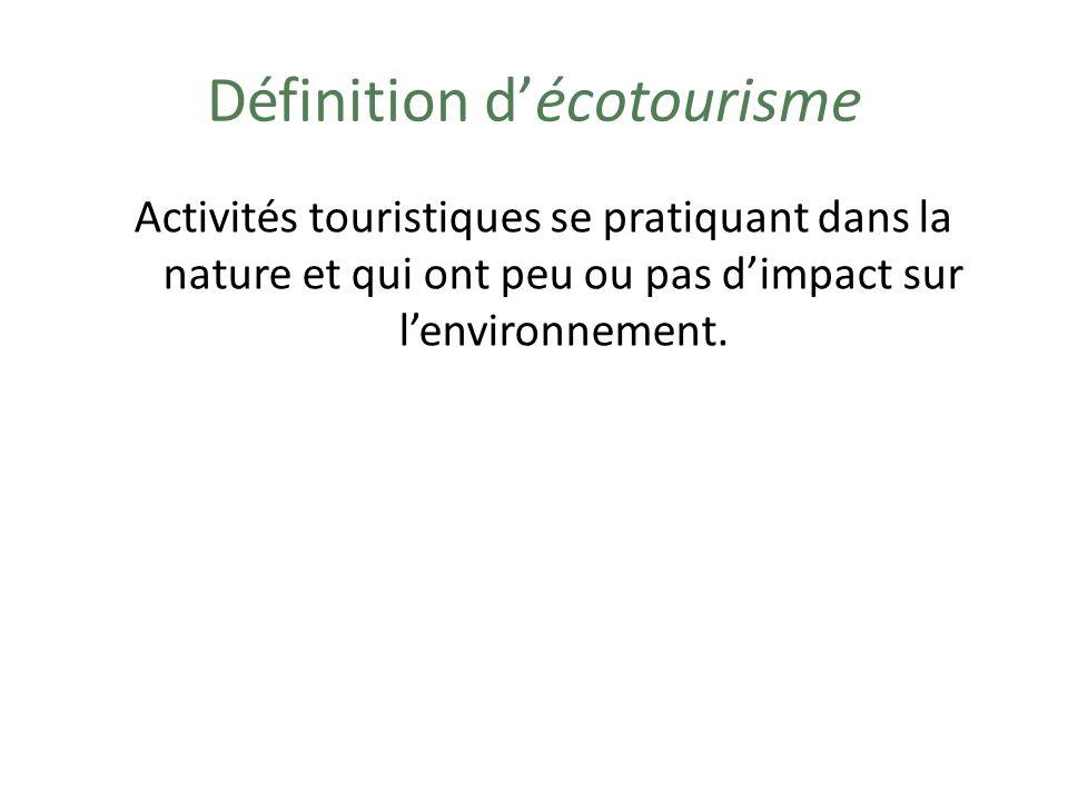 Définition d'écotourisme