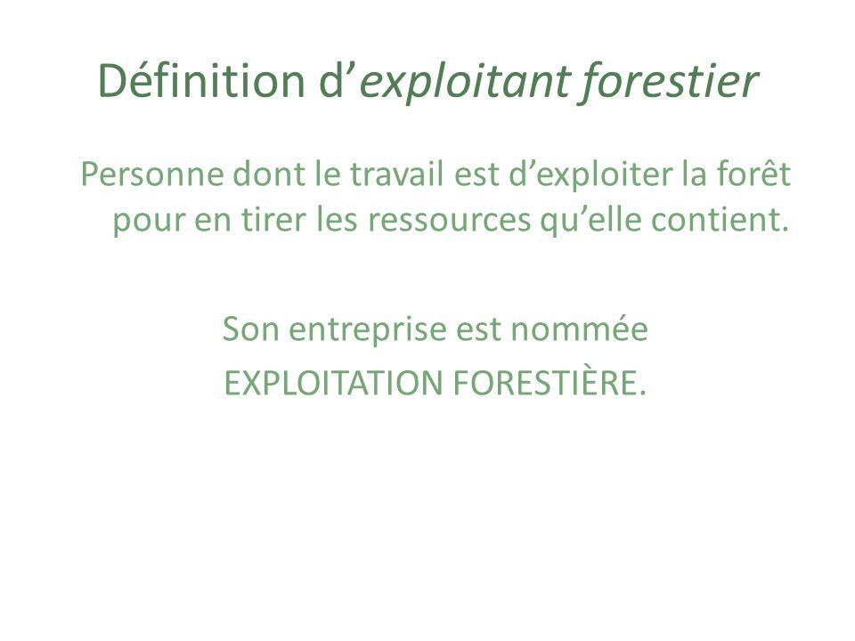 Définition d'exploitant forestier