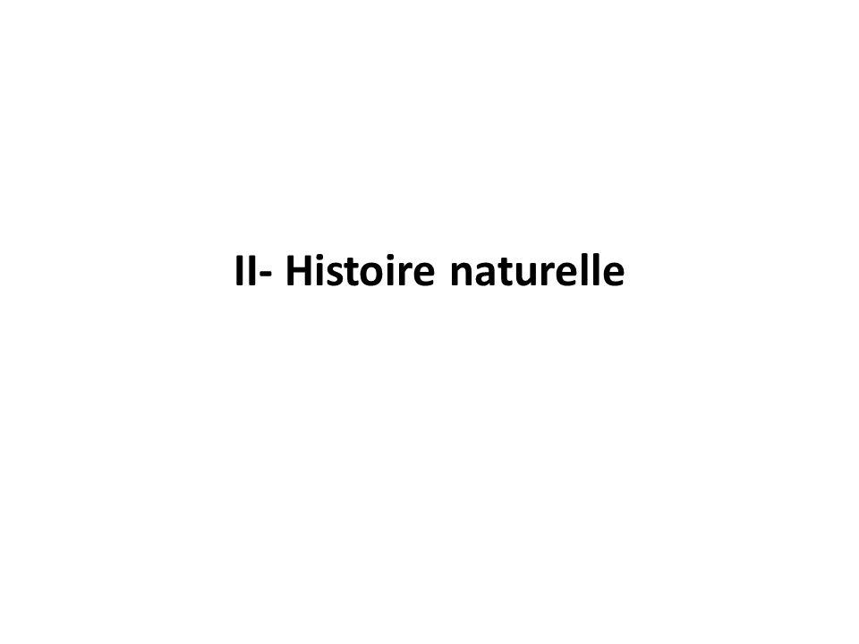 II- Histoire naturelle