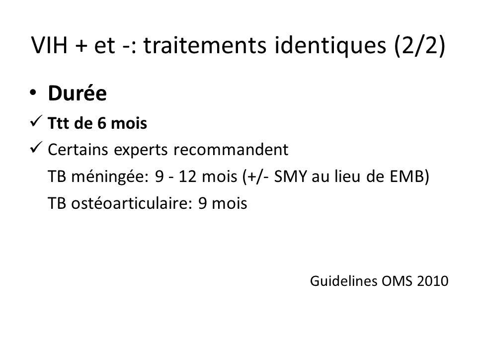 VIH + et -: traitements identiques (2/2)