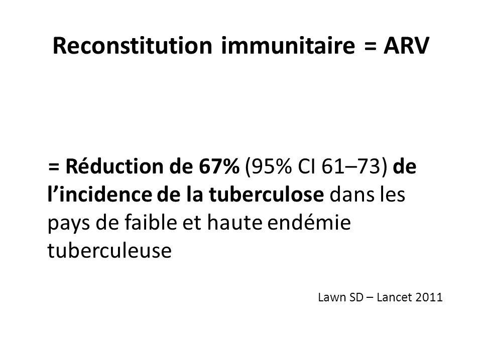 Reconstitution immunitaire = ARV