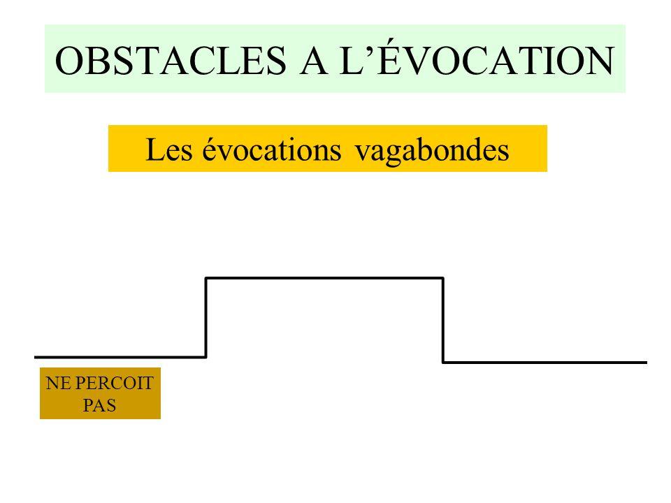 OBSTACLES A L'ÉVOCATION