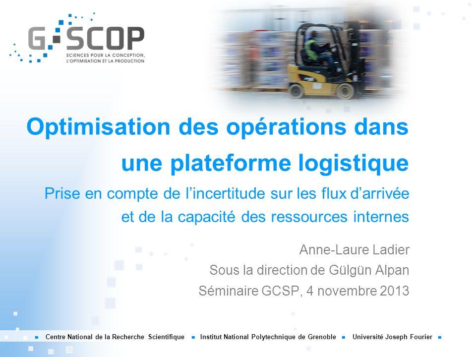 Optimisation des opérations dans une plateforme logistique