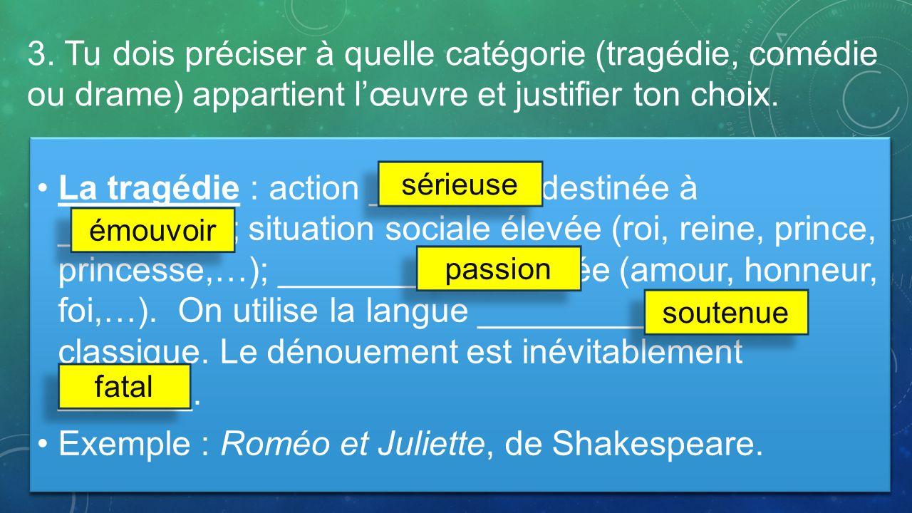 Exemple : Roméo et Juliette, de Shakespeare.