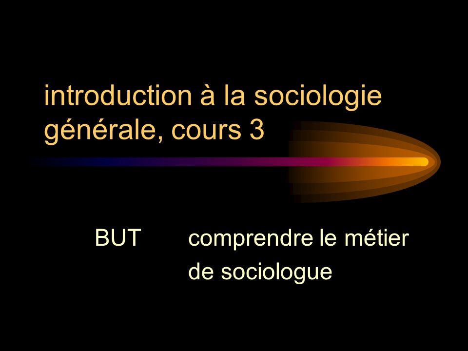 introduction à la sociologie générale, cours 3
