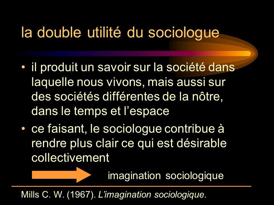 la double utilité du sociologue