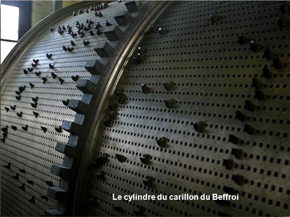 Le cylindre du carillon du Beffroi