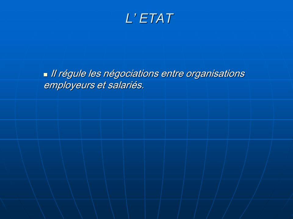 Il régule les négociations entre organisations employeurs et salariés.
