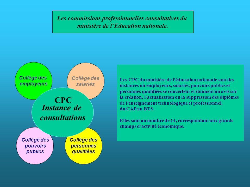 Instance de consultations