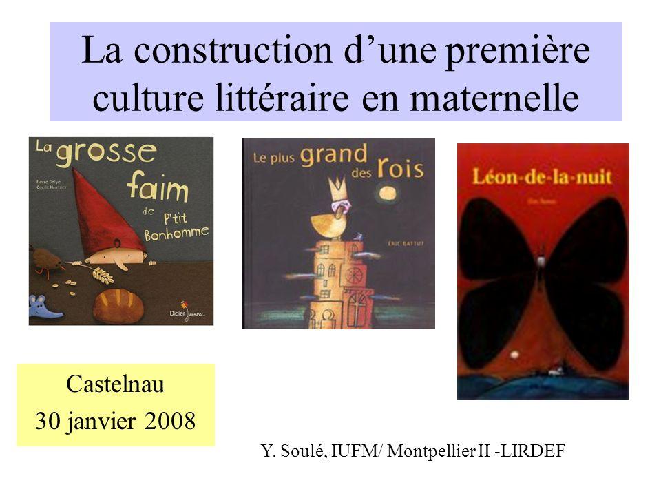 La construction d'une première culture littéraire en maternelle
