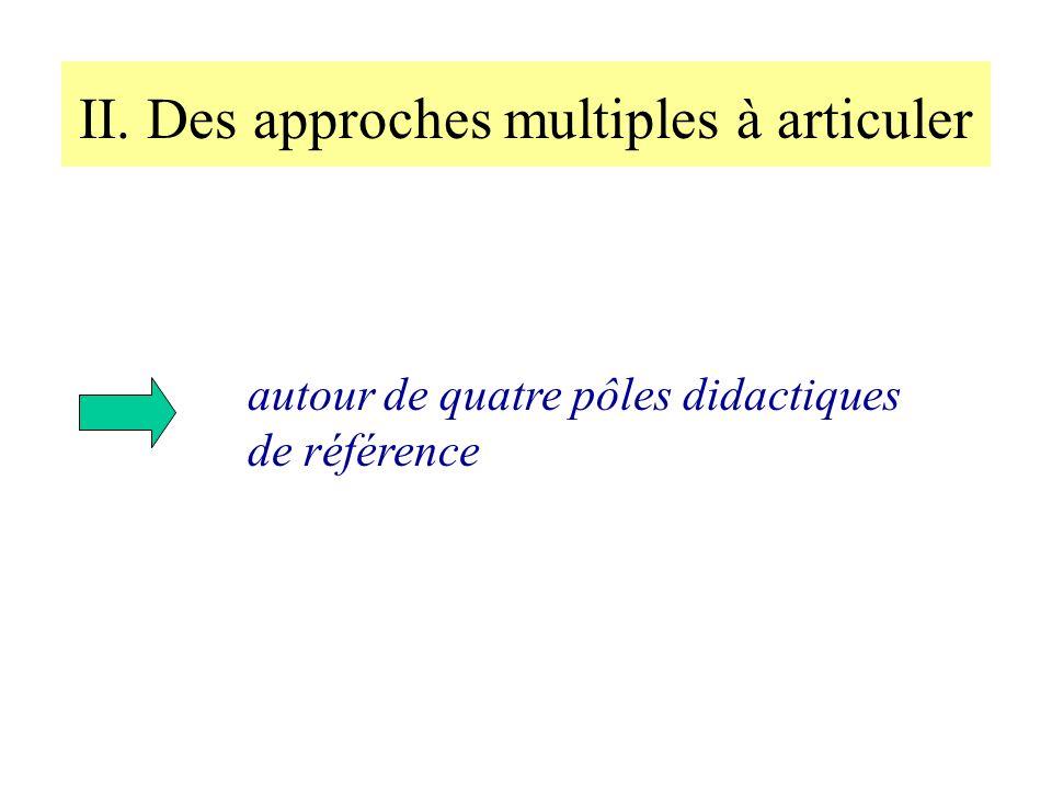 II. Des approches multiples à articuler