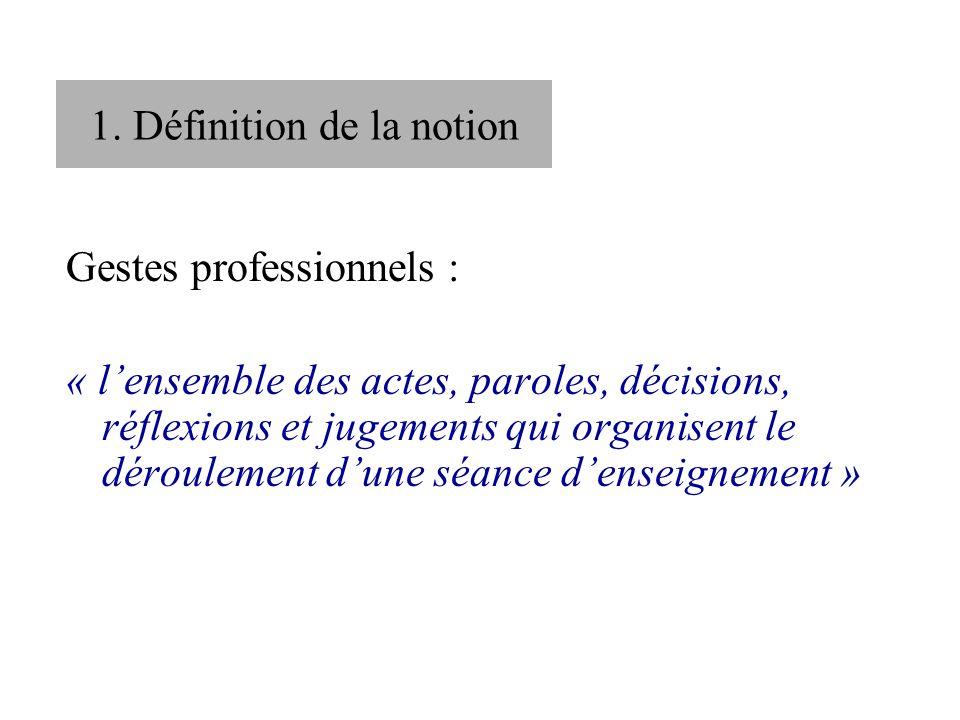 1. Définition de la notion