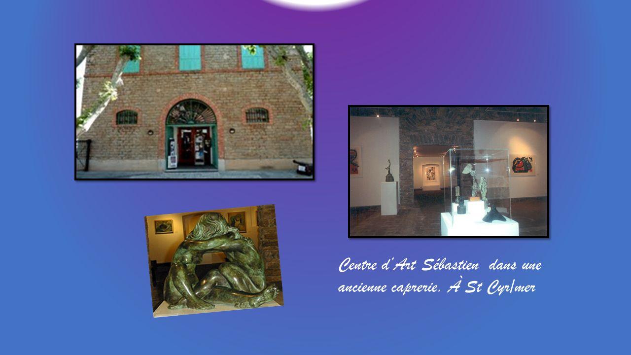 Centre d'Art Sébastien dans une ancienne caprerie. À St Cyr/mer