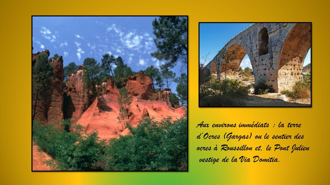 Aux environs immédiats : la terre d'Ocres (Gargas) ou le sentier des ocres à Roussillon et, le Pont Julien