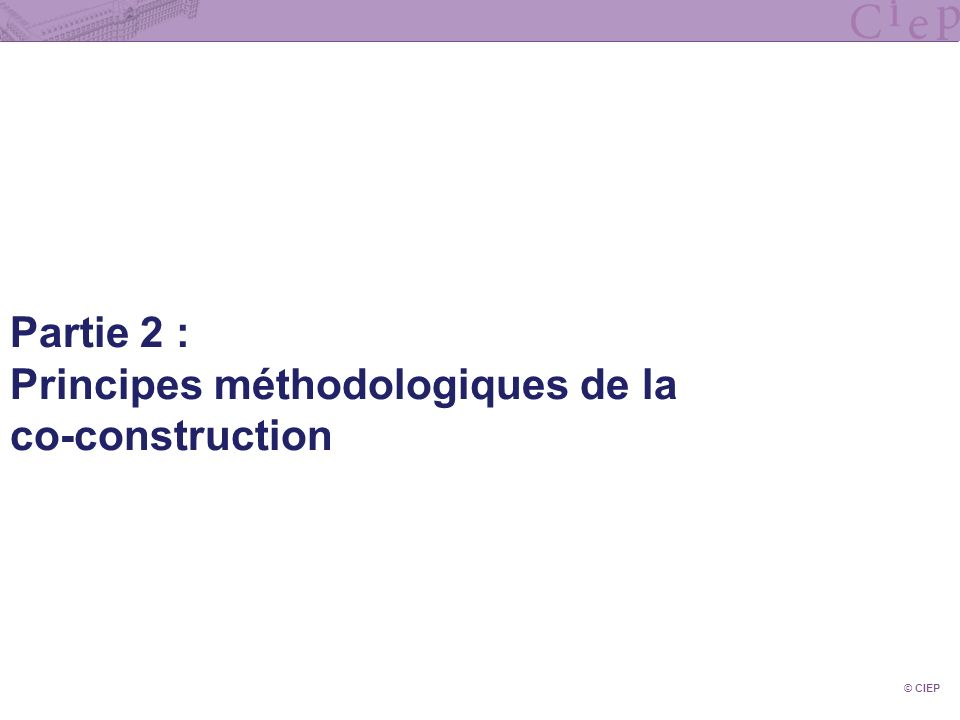 Principes méthodologiques de la co-construction