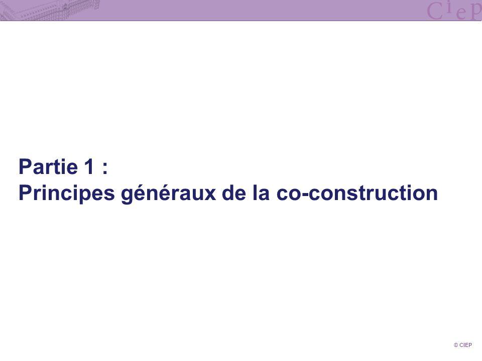 Principes généraux de la co-construction