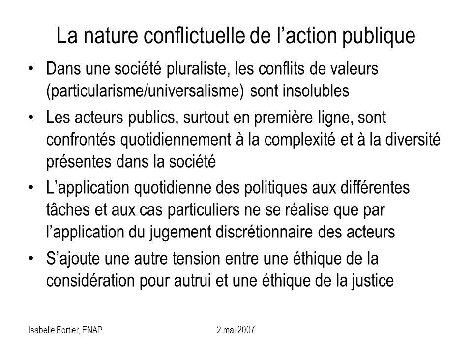 La nature conflictuelle de l'action publique