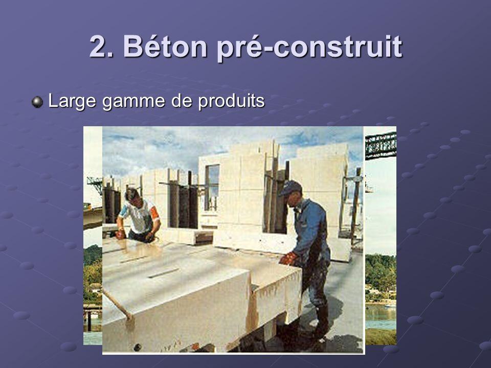 2. Béton pré-construit Large gamme de produits