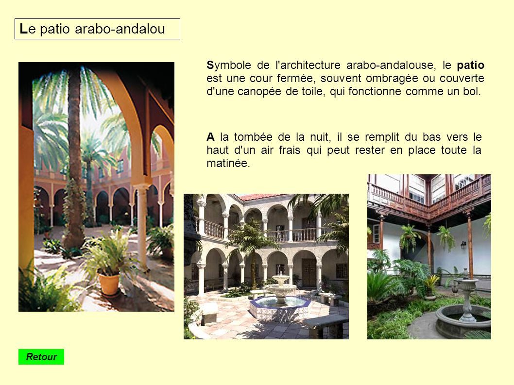 Le patio arabo-andalou