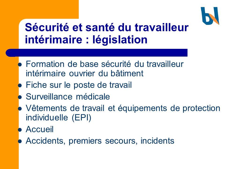 Sécurité et santé du travailleur intérimaire : législation