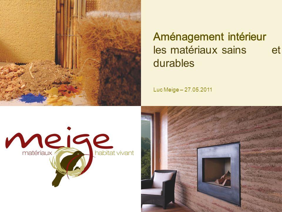 Aménagement intérieur les matériaux sains et durables